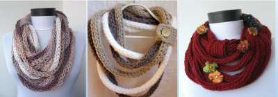 Декорирование шарфа
