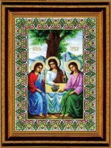 Икона Святая Троица. Бисер