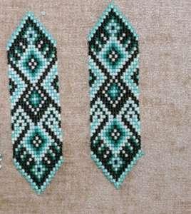Ленты гердана, сплетенные по схеме
