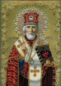 Николай Чудотворец. Вышивка бисером
