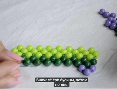 Плетение браслета крестом шаг 3