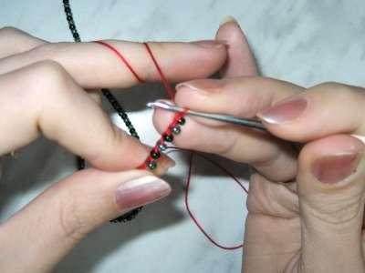 Вязание жгута из бисера