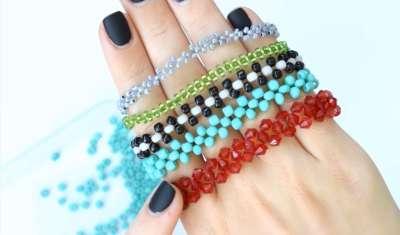 Варианты браслетов, изготовленных по описанной технологии