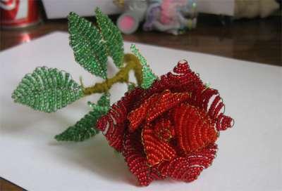 Цветок для начинающих из бисера Мужские Схемы 127